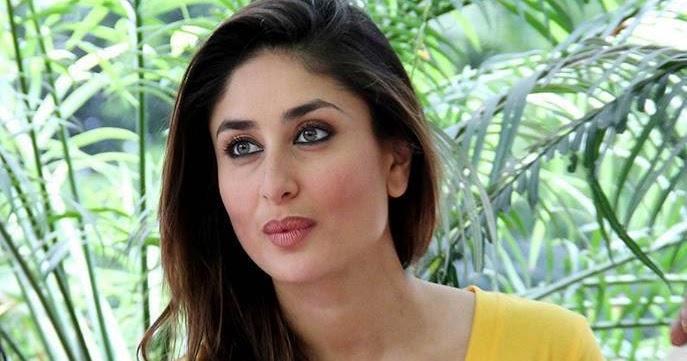 Bollywood beautiful actress Kareena Kapoor latest images in yellow t-shirt