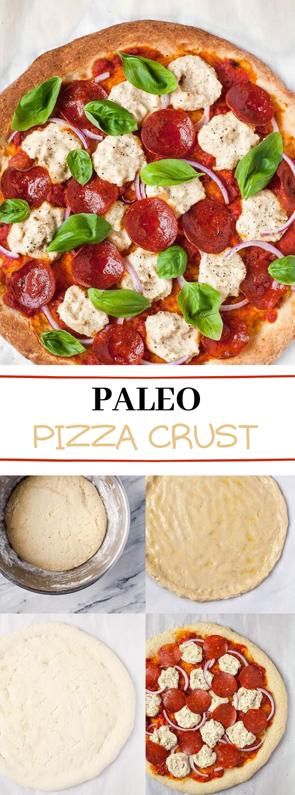 Authentic Paleo Pizza Crust #pizza #paleo