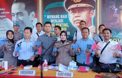 Polda Lampung Gelar Hasil Kegiatan Kepolisian Yang Ditingkatkan Juli 2018
