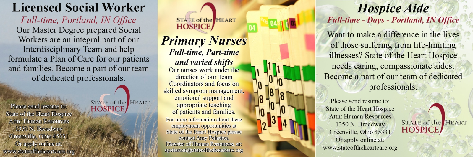 DarkeJournal com: Help Wanted at State of the Heart Hospice