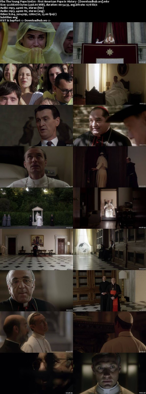 The Young Pope Season 1 Hindi Dual Audio 720p HDRip Download