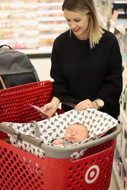 Newborn Essentials Review- Binxy Baby Shopping Cart Hammock