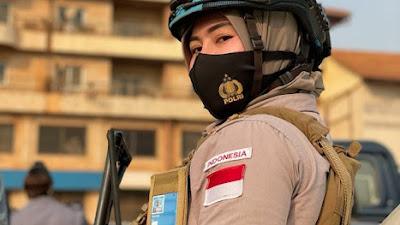 Polwan Cantik dari Polda Banten Dipercaya Menjadi Pasukan Perdamaian di Afrika Tengah