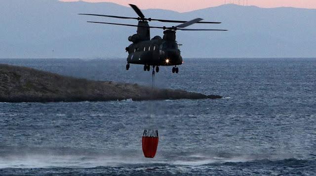 Με το πρώτο φως της ημέρας ξεκίνησε η επιχείρηση και των εναέριων μέσων!!! Μάχη των πυροσβεστών για να ελέγξουν την πυρκαγιά στα Καλύβια