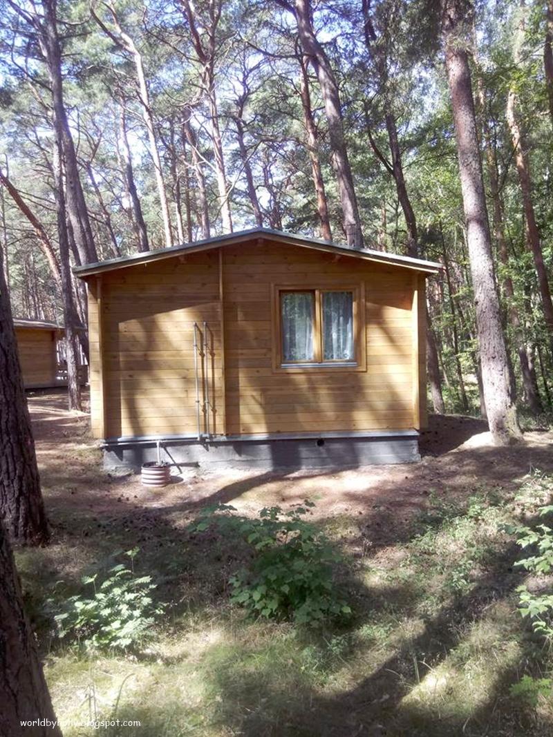 domki w lesie, ośrodek wypoczynkowy nad morzem, ośrodek Portus w Międzywodziu, Portus Międzywodzie