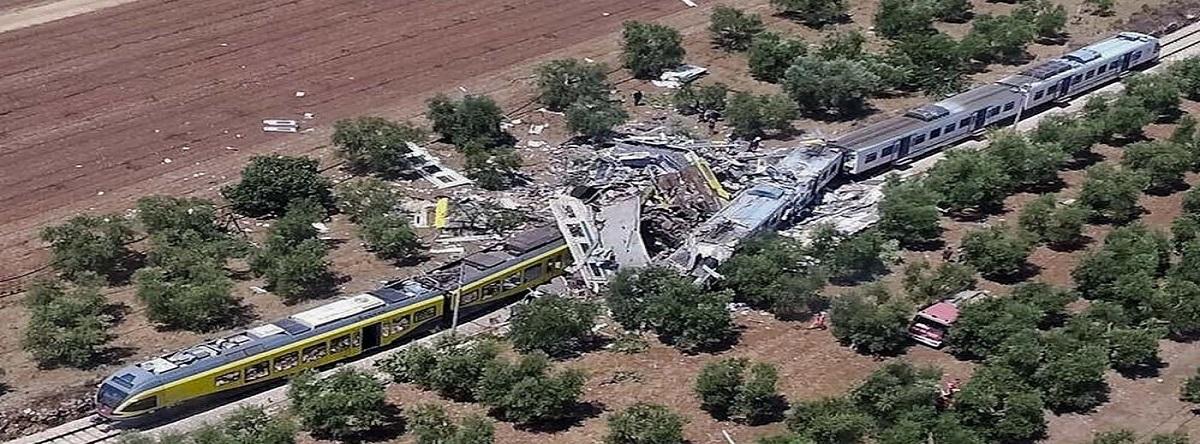choque de trenes  Puglia, al sur de Italia
