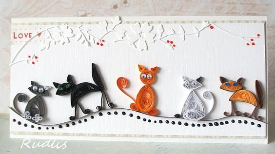 chats cats quilling