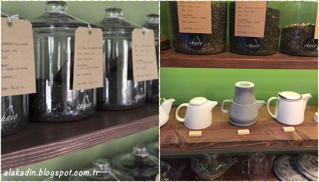 52 çeşit çayın bulunduğu Chado Tea Shop