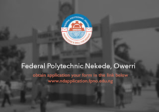 Federal Poly Nekede HND Supplementary Admission Form - 2017/2018