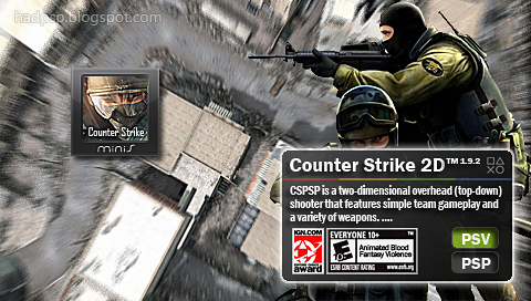 Homebrew For Sony Playstation Portable Cspsp 1 92 Couter Strike 2d