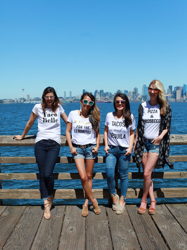 Taco Tees, Seattle Bloggers, How to Style a Graphic Tee