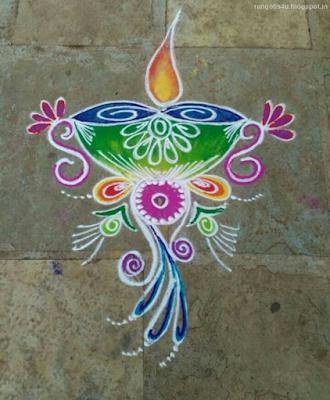 Deep Jyoti Rangoli patterns