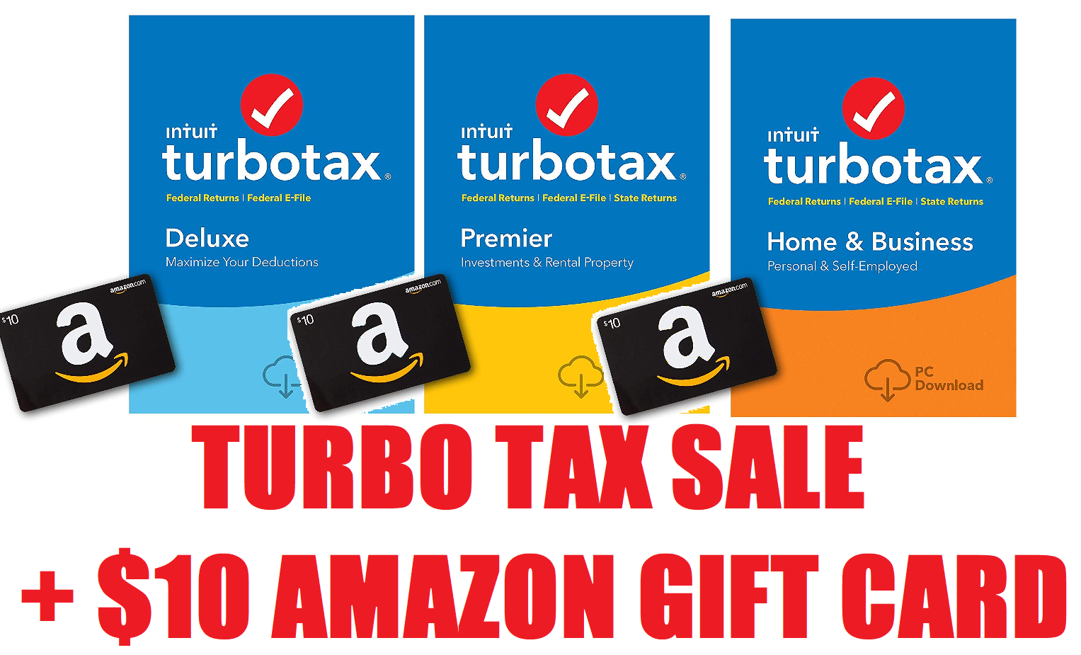 TurboTax 2018 Tax Software Sale + Extra $10 Gift Card Back! TurboTax