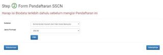 Cara Memilih Instansi, Formasi dan Jabatan di Website SSCN