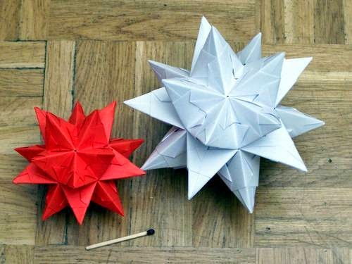 3D Paper stars DIY. Origami star. EASY!!! - YouTube | 3d paper ... | 375x500