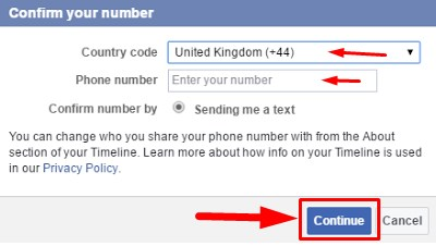 how to find mobile number from facebook account