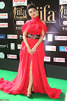 Apoorva in a Stunning Tight Leg Split Sleeveless Red Gown at IIFA Utsavam Awards 11.JPG