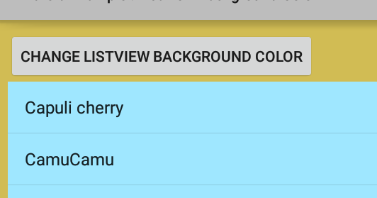 How to change listview background color in android for Html code to change background color of page