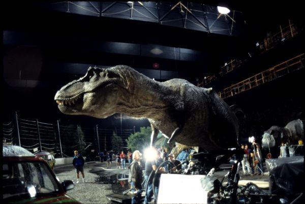 jurassic park behind the scenes t-rex