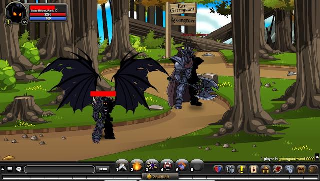 Black Knight AQW Coordinates