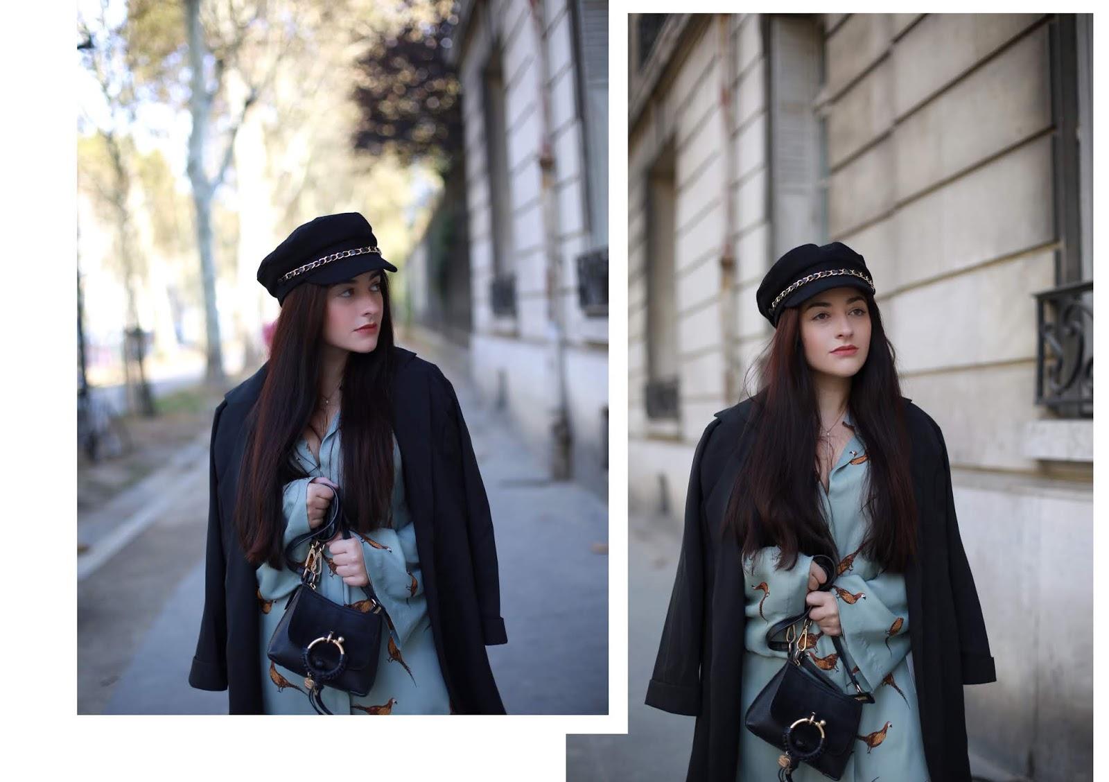 robe chemise motif oiseaux