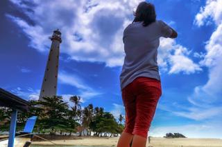 tempat foto bagus di belitung, dermaga tanjung binga