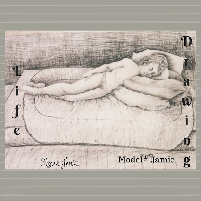 Nude Drawings by Minaz Jantz. Model Jamie