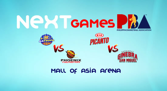 List of PBA Games: February 7 at MOA Arena 2017-2018 PBA Philippine Cup