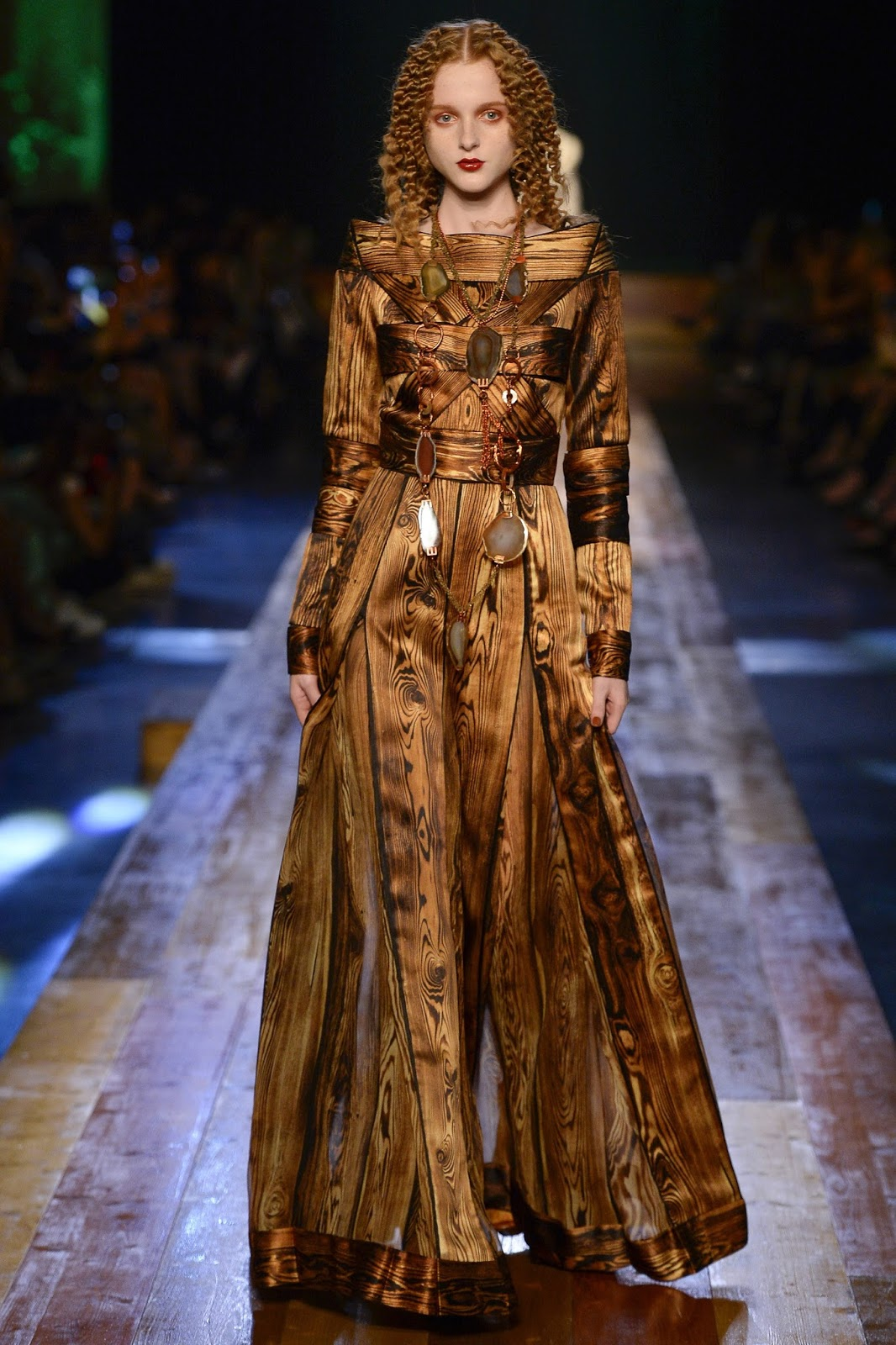 wood fashion jean paul gautier fall 2016 couture. Black Bedroom Furniture Sets. Home Design Ideas