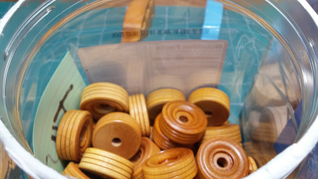 Wooden Toy Car Wheels TWT125 Shellaced and in the Jar