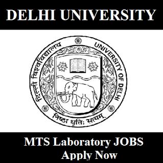 University of Delhi, DU, Delhi, MTS Laboratory, 10th, Delhi University, freejobalert, Sarkari Naukri, Latest Jobs, delhi university logo