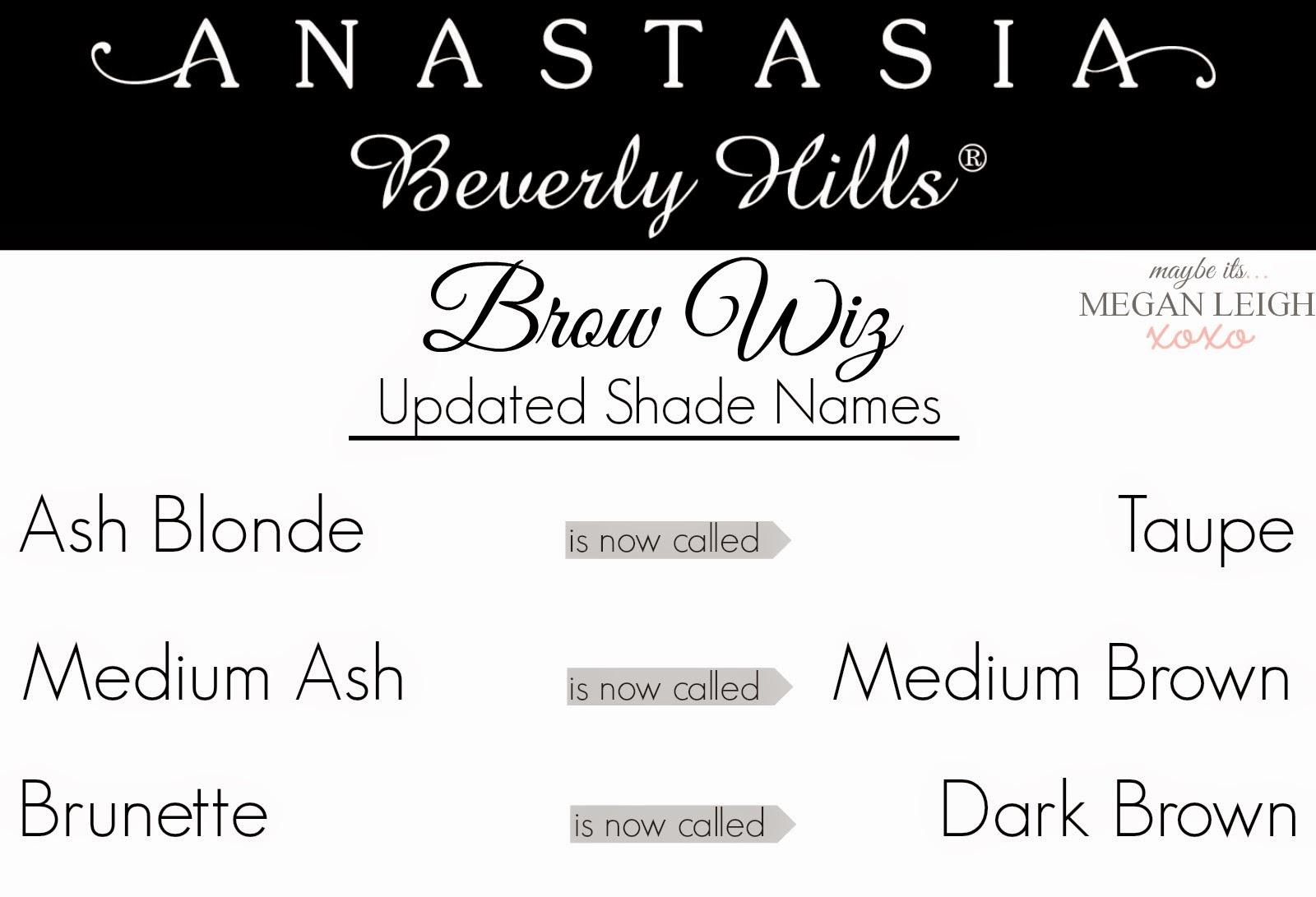 Ana Stasia & Co anastasia beverly hills - brow wiz - updated shade names