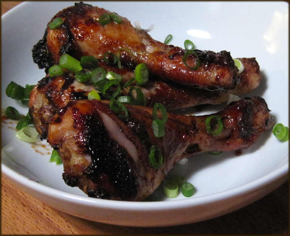 Honey Glazed Chicken Drumsticks with Chinese Five Spice