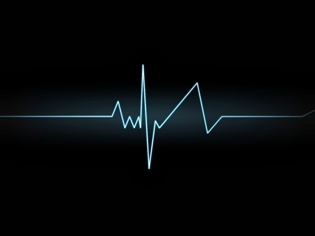 Template Backgrounds Heartbeat Graph Slide Background