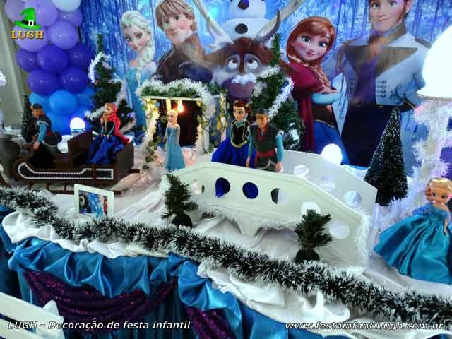Aniversário infantil Frozen - Ornamentação de festa