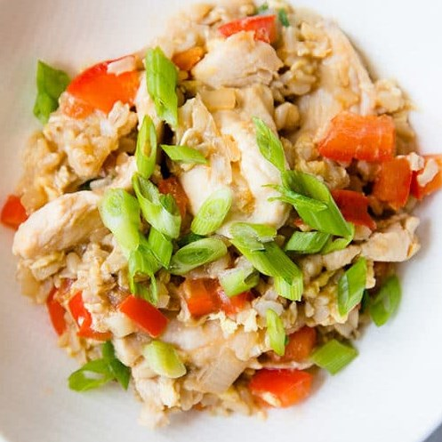 Clean Eating Chicken Fried Rice #healthymeal #friedrice