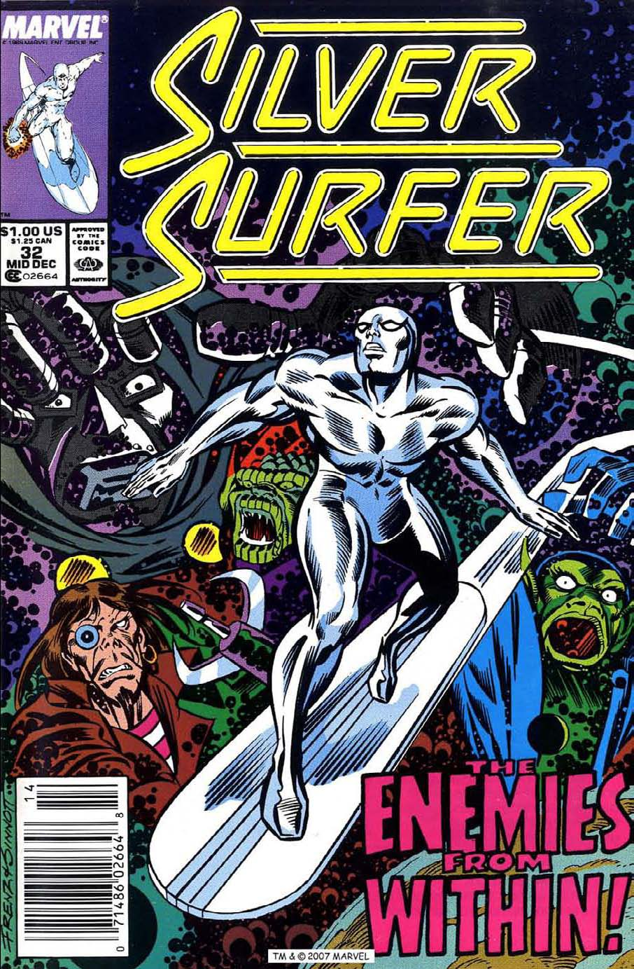 Read online Silver Surfer (1987) comic -  Issue #32 - 1