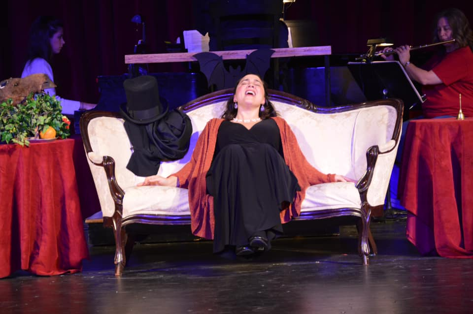 IN REVIEW: soprano TAMARA BELIY as Rosalinde in UNCG Opera Theatre's October 2019 production of Johann Strauss II's DIE FLEDERMAUS [Photograph © by Amber-Rose Romero, Tamara Beliy, & UNCG Opera Theatre]