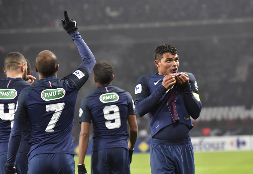 PSG, de Thiago Silva, quer avançar à semifinal (Foto: Alain Jocard/AFP)