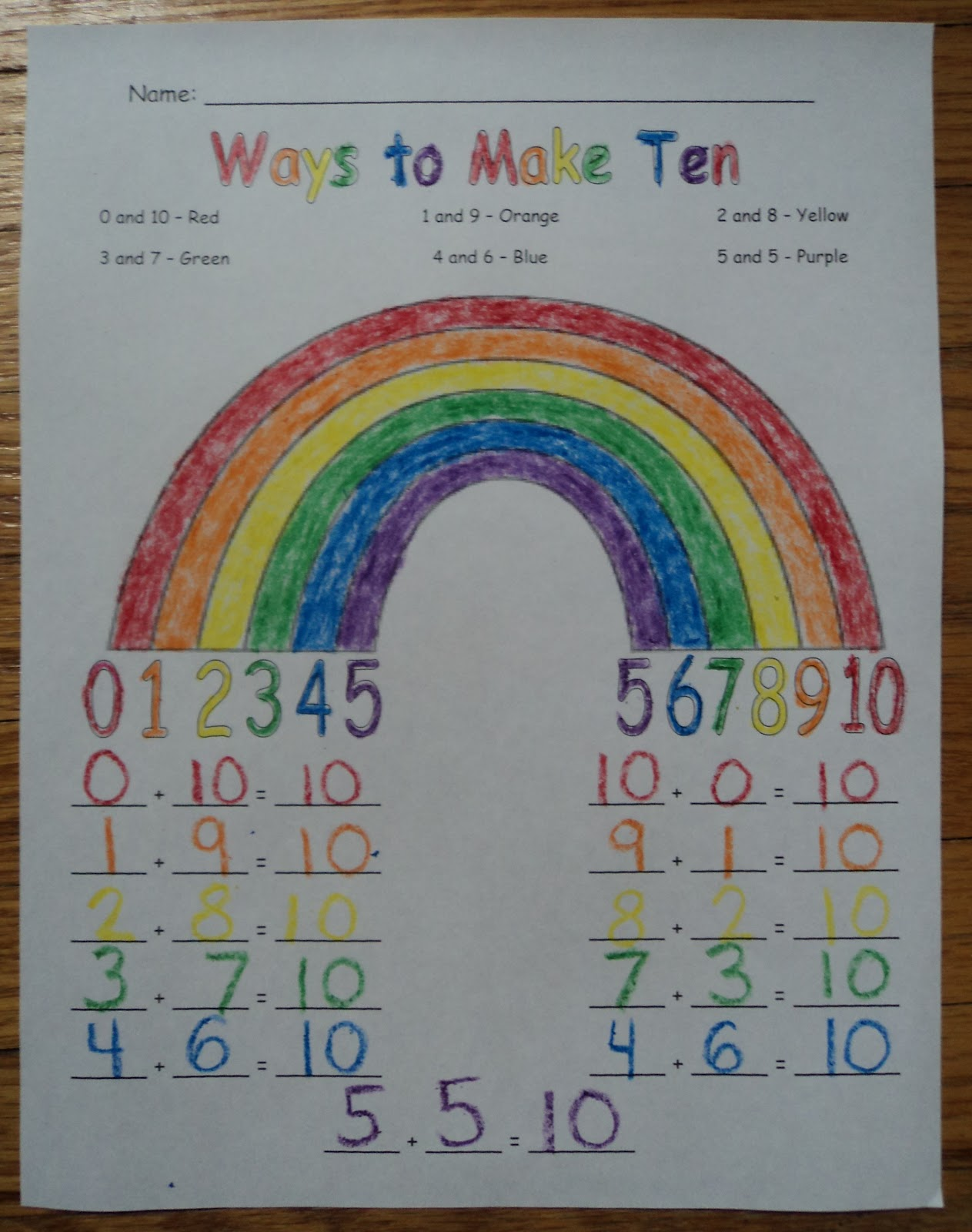 Kindergarten Ways Make 5