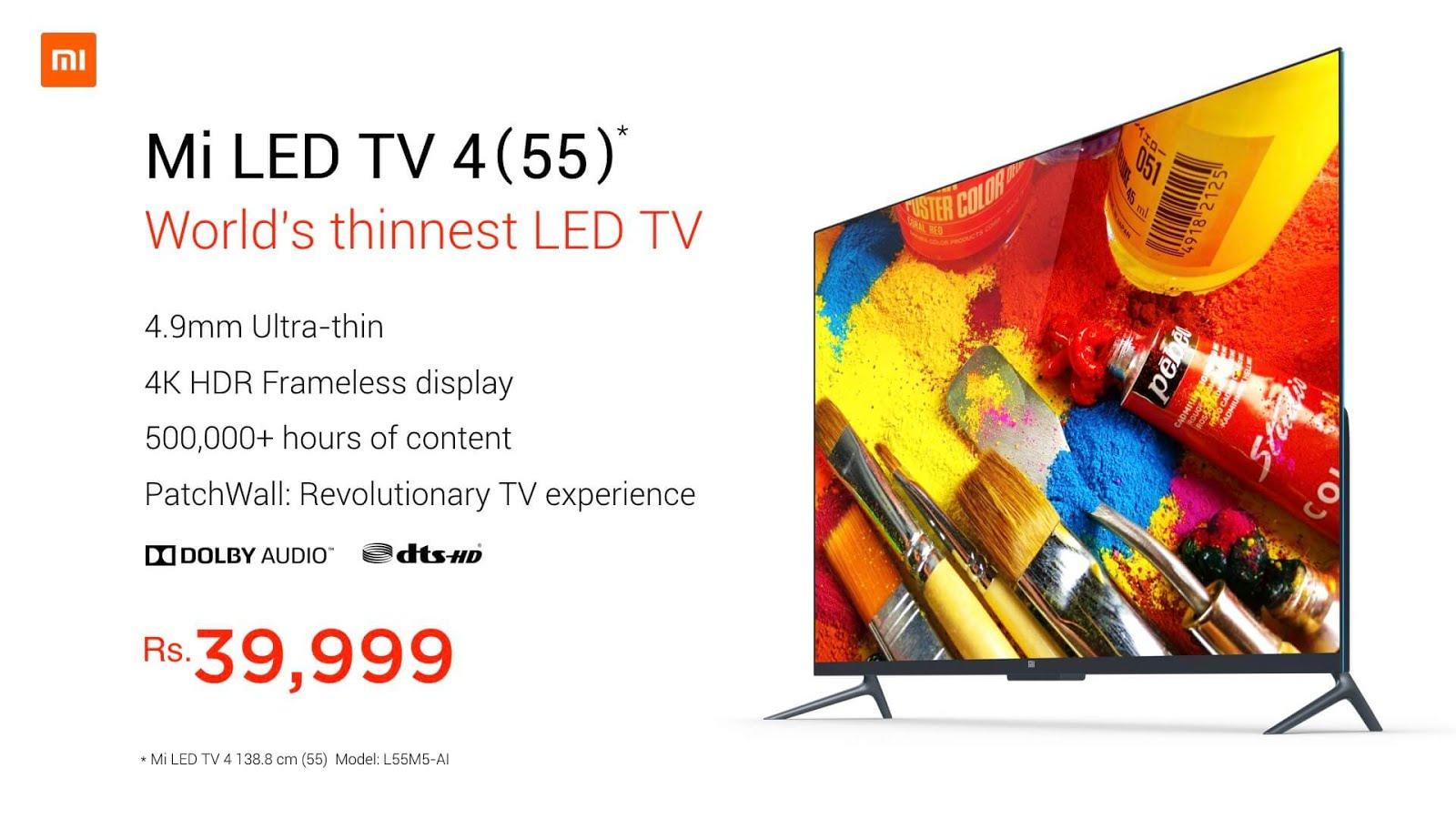 Xiaomi Mi LED TV 4
