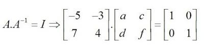 calculando a inversa da matriz a