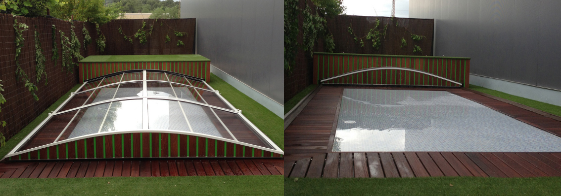 Diferentes estructuras de cubiertas para piscinas sf23 for Estructura para piscina
