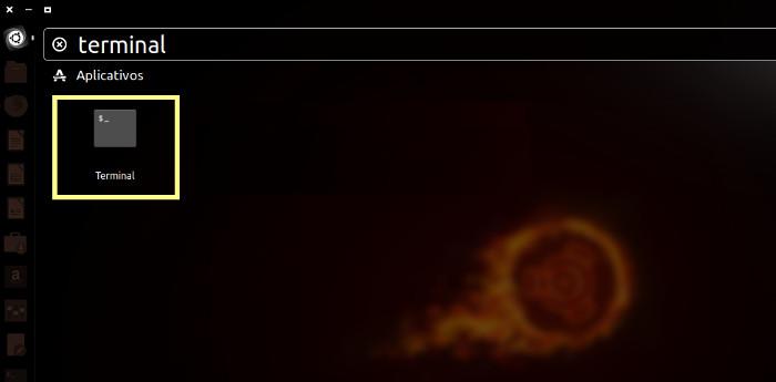 localizar terminal usando o dash do ubuntu