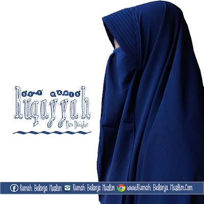 Jilbab Cadar Ruqoyyah Biru Dongker