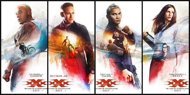xXx: Reativado | Vin Diesel, Neymar, Donnie Yen, Ninva Dobrev e cia nos cartazes de personagens