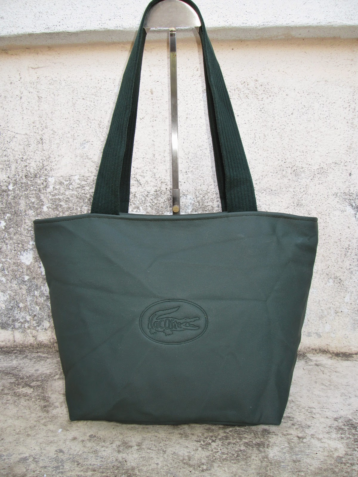 d0rayakeebag authentic lacoste green tote bag sold. Black Bedroom Furniture Sets. Home Design Ideas