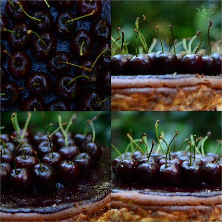Tarta de quesos con picotas y cerezas 02