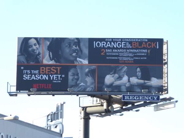 Orange is the New Black season 4 awards billboard
