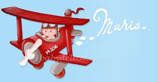 silueta infantil madera avioneta con niño babydelicatessen